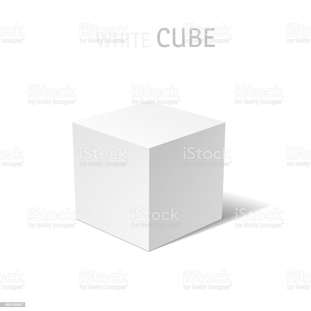 White box isolated vector art illustration