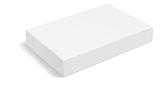 White box . Mock up white cardboard package box. White realistic box mockup for packaging. Blank white product packaging boxes isolated on white background. Vector illustration