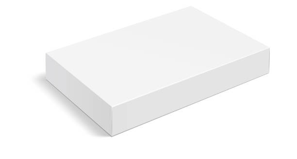 White box . Mock up white cardboard package box. White realistic box mockup for packaging. Blank white product packaging boxes isolated on white background. Vector illustration Mock up white cardboard package box. White realistic box mockup for packaging. Blank white product packaging boxes isolated on white background. Vector illustration white color stock illustrations
