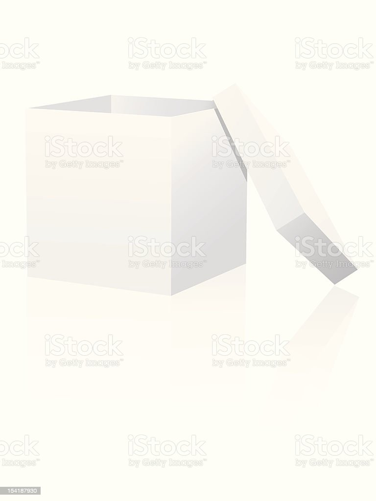 White box with lid royalty-free stock vector art