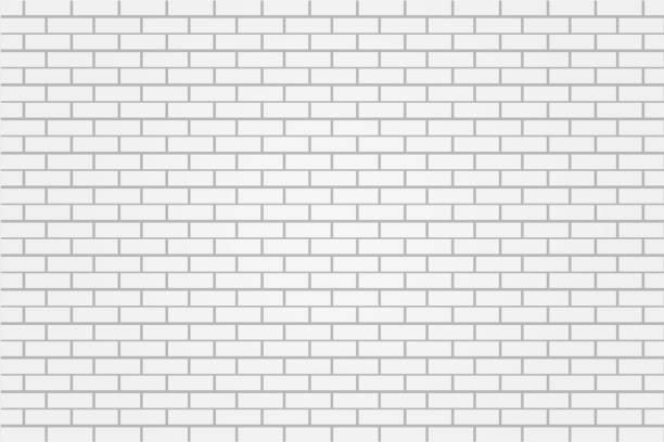 ilustrações de stock, clip art, desenhos animados e ícones de white brick tile wall background illustration vector - white wall