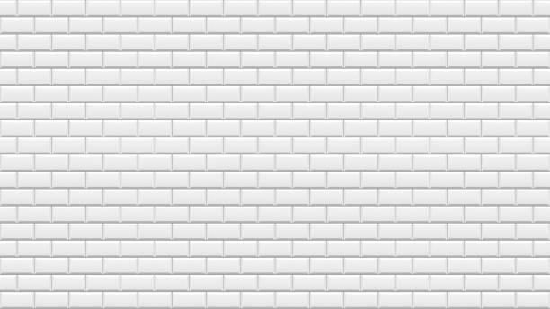 흰색 벽돌 벽입니다. 흰색 돌의 배경입니다. - 흰색 벽돌 담 stock illustrations