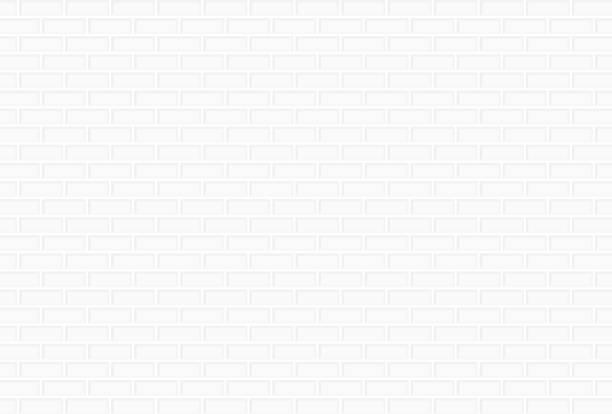 흰색 벽돌 벽 배경 - 흰색 벽돌 담 stock illustrations