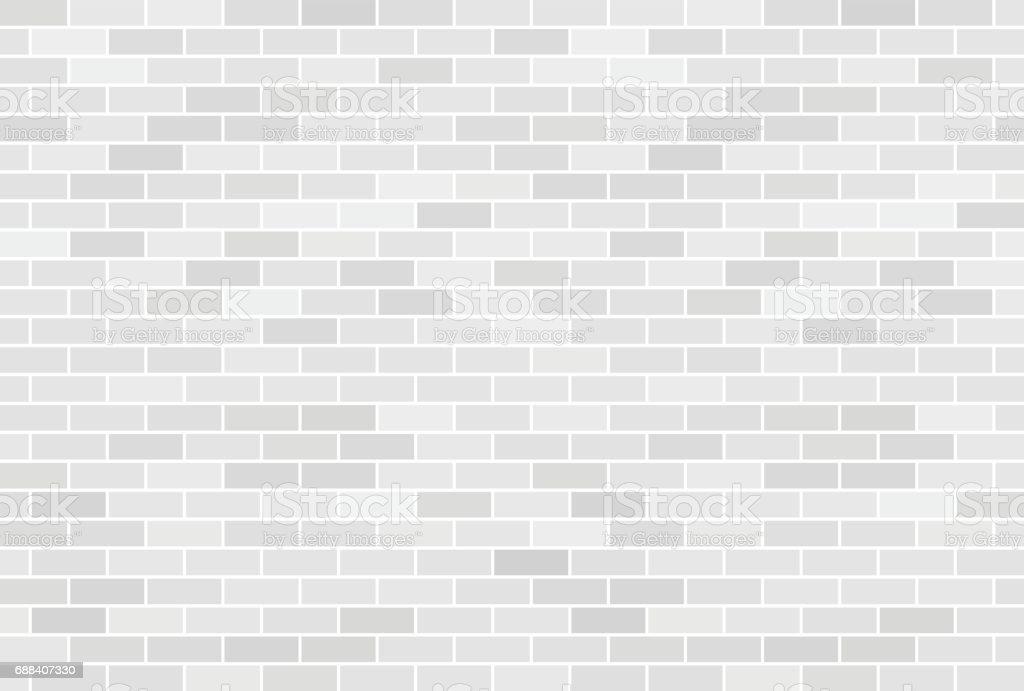 Blanc mur de briques arrière-plan - Illustration vectorielle