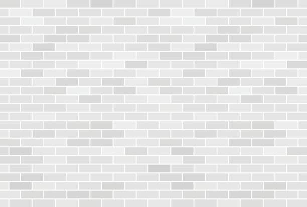 white brick wall background - tile pattern stock illustrations, clip art, cartoons, & icons