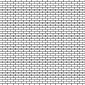 White brick wall background. Vector illustration