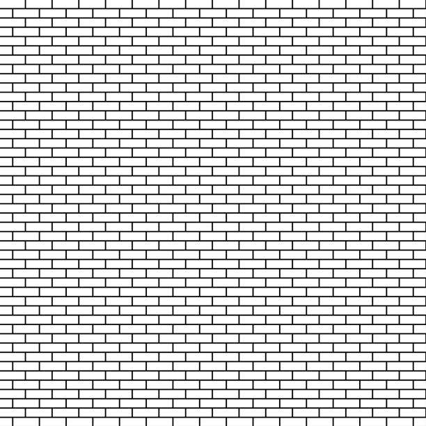 White brick wall background. Vector illustration vector art illustration