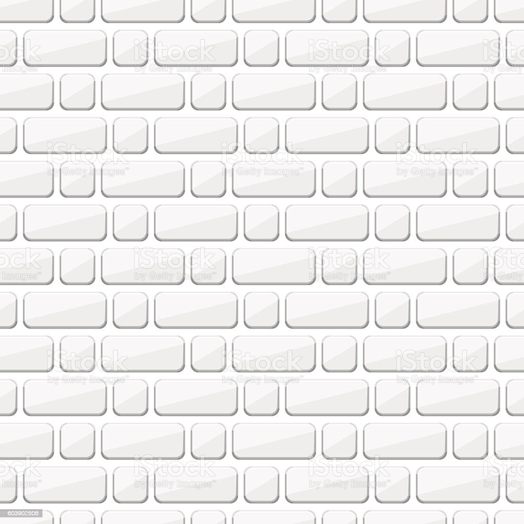 White Brick Wall Seamless Background Of Bricks Texture Royalty Free