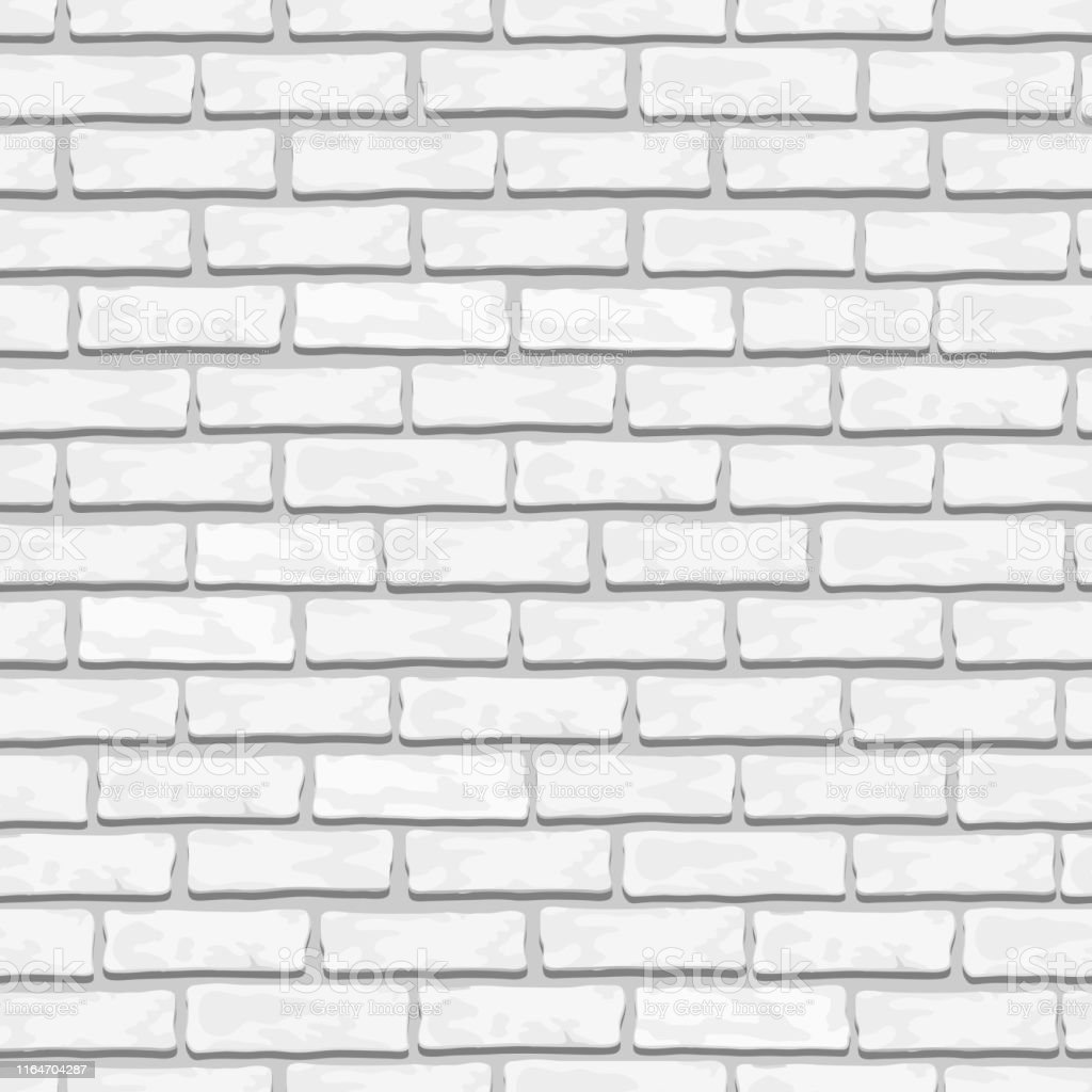 White Brick Wall Texture Seamless Vector Illustrationbrick Seamless Textureeps10 Vector Stock Illustration Download Image Now Istock