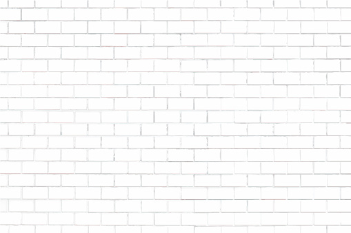 White brick wall textured background clipart