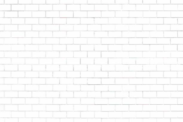 White brick wall textured background White brick wall textured background white color stock illustrations
