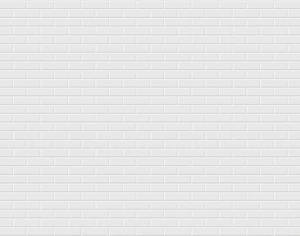 White brick wall. Vector background - ilustración de arte vectorial