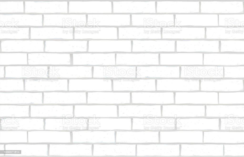 white brick wall vector art illustration