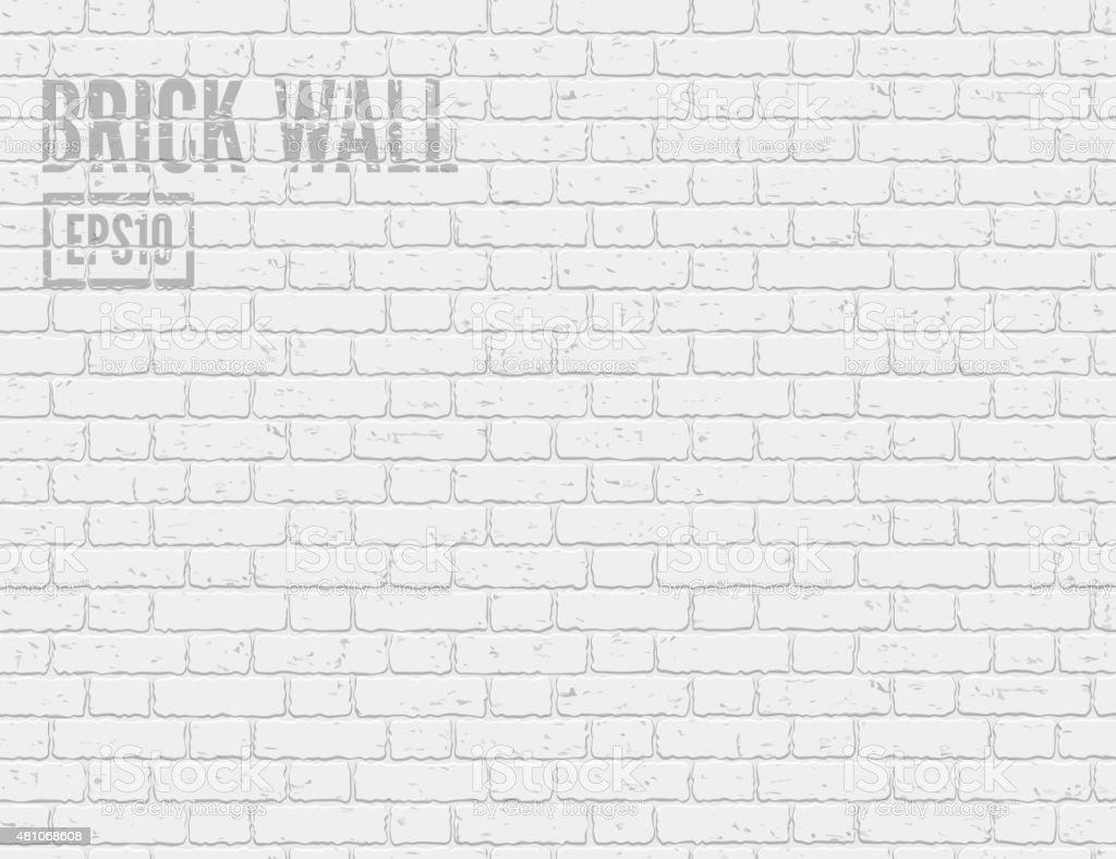 Mur de briques blanches - Illustration vectorielle