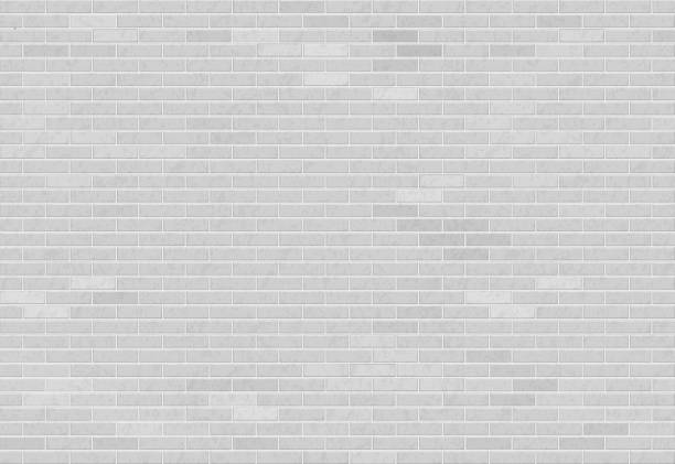 White brick wall. vector art illustration