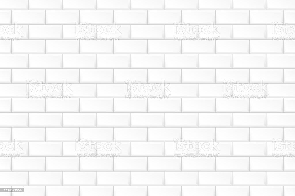 White brick wall. vector art illustration