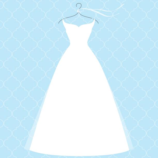 Wedding Gown Clip Art: Bridal Shower Illustrations, Royalty-Free Vector Graphics