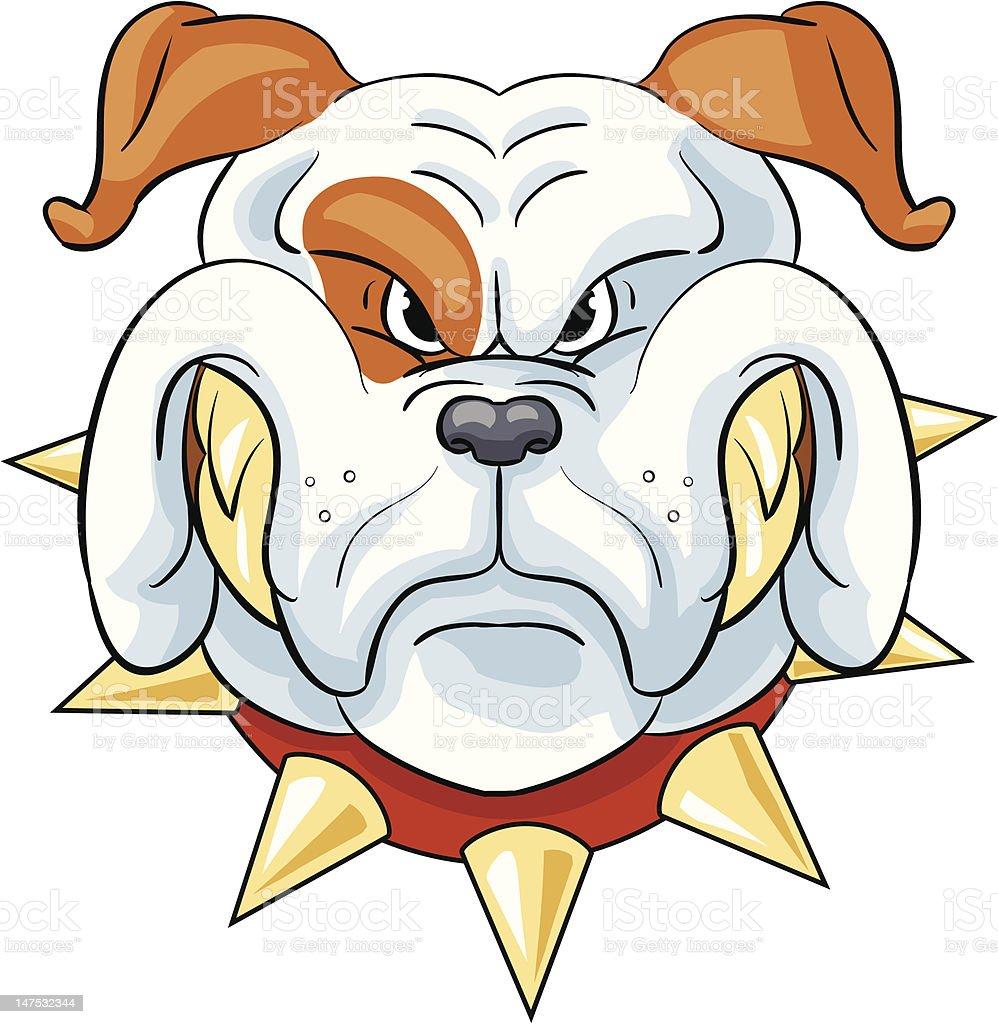 white bulldog vector art illustration