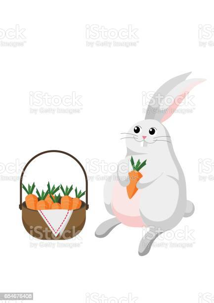 White bunny rabbit with basket full of carrots vector id654676408?b=1&k=6&m=654676408&s=612x612&h=bppswnagoyyyhnpganxpcpkfqvi0td8ayehbdplj tk=