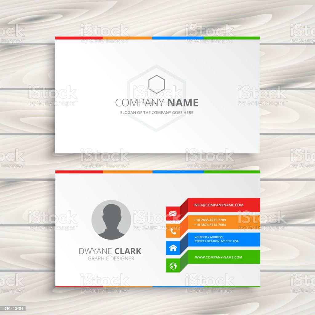white business card template のイラスト素材 591410454 istock