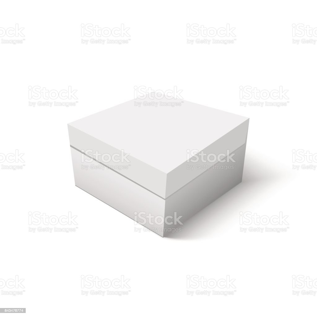 Caja De Cartón Blanco Para Plantilla De Vector De Zapato Envase ...