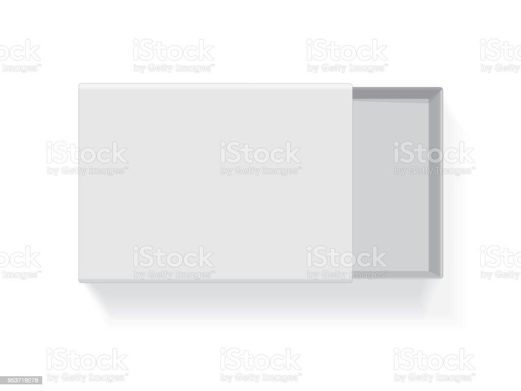 white cardboard box vector art illustration