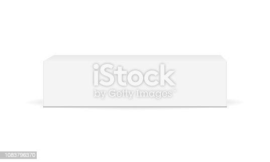 istock White cardboard rectangular box mock up - front view 1083796370