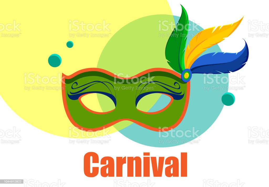 white carnival background with color mask stock vector art more