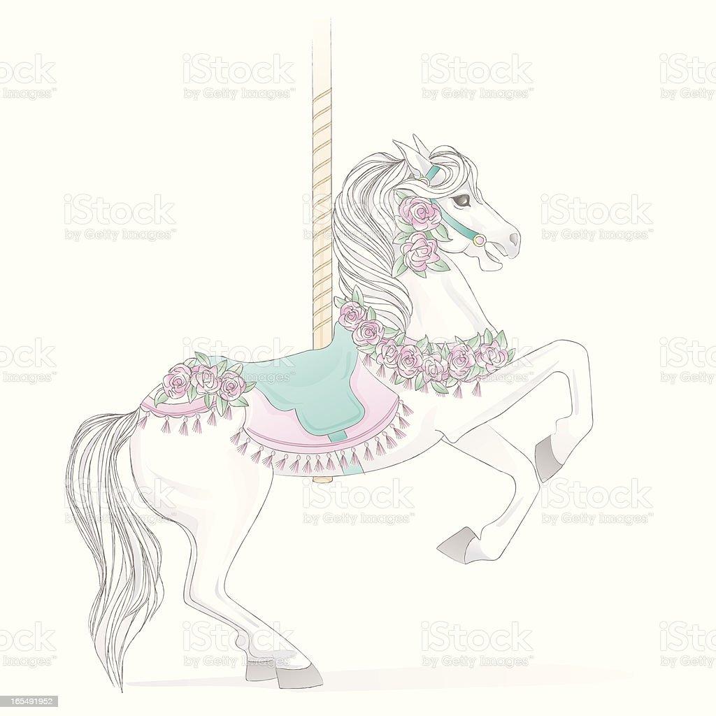 White Carousel Horse Stock Illustration Download Image Now Istock