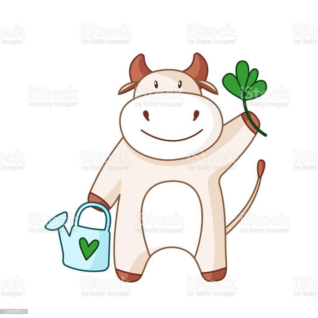 Boeuf Blanc De Dessin Anime Taureau Ou Vache Vecteurs Libres De Droits Et Plus D Images Vectorielles De Affiche Istock