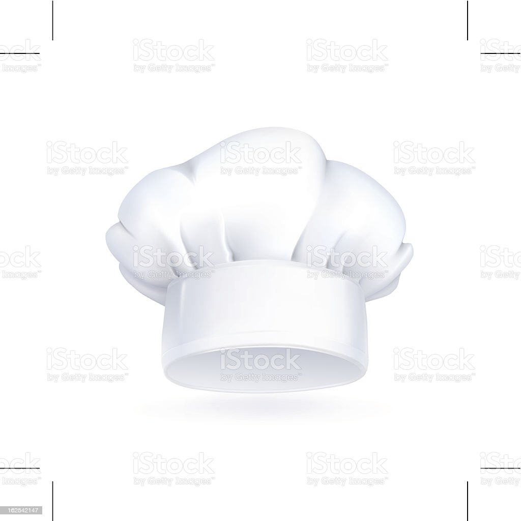White chefs hat icon on white background vector art illustration