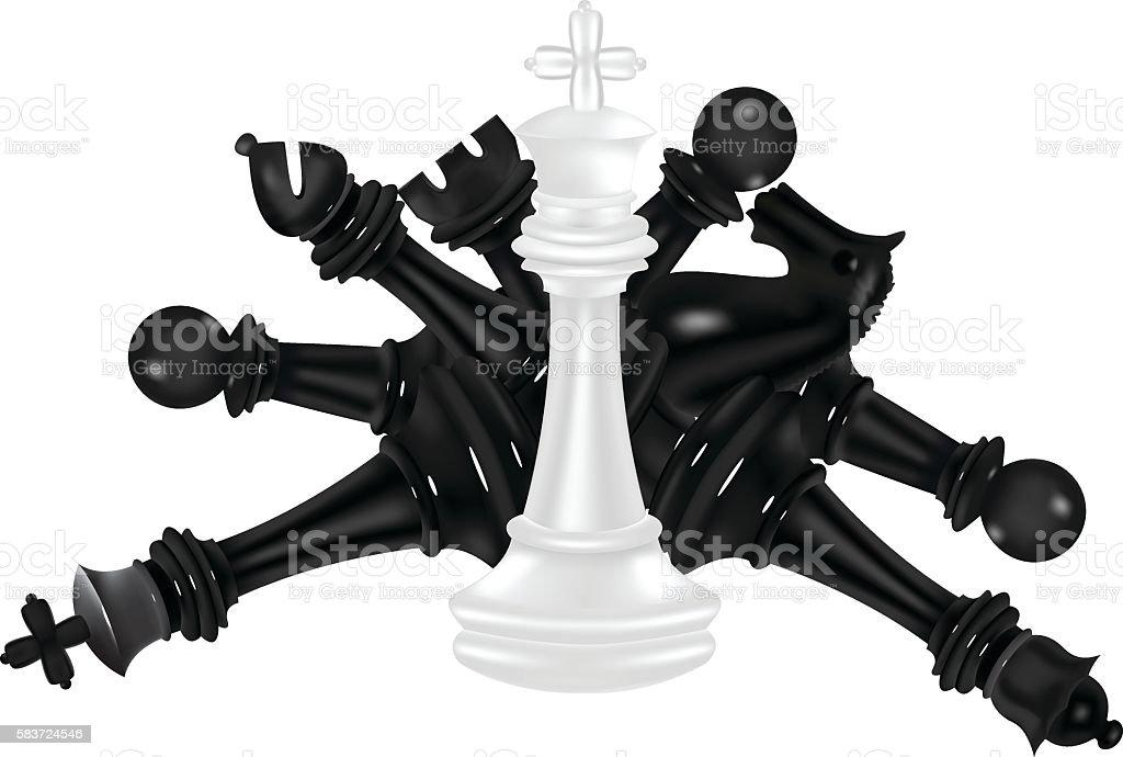 White Chess Piece King Winner Stock Vector Art & More ...