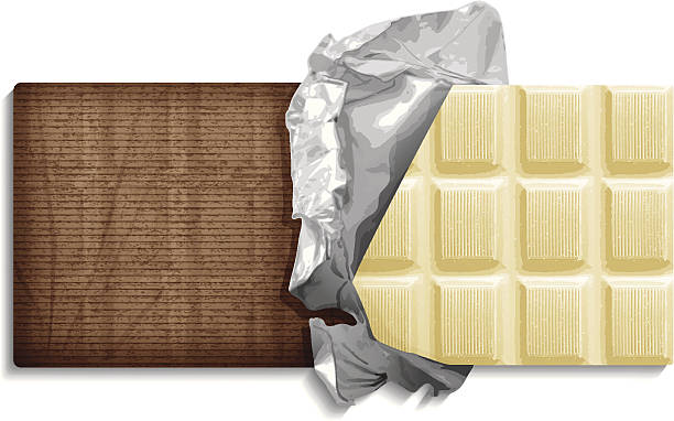 white chocolate bar White chocolate bar with wrapping paper and foil. Layered EPS10 with global colors and transparencies. Individual textures and elements. Hi-res JPG and AICS3 files included. Related images linked below. http://i161.photobucket.com/albums/t234/lolon5/chocolate_lightbox_zpse466d590.jpg candy clipart stock illustrations