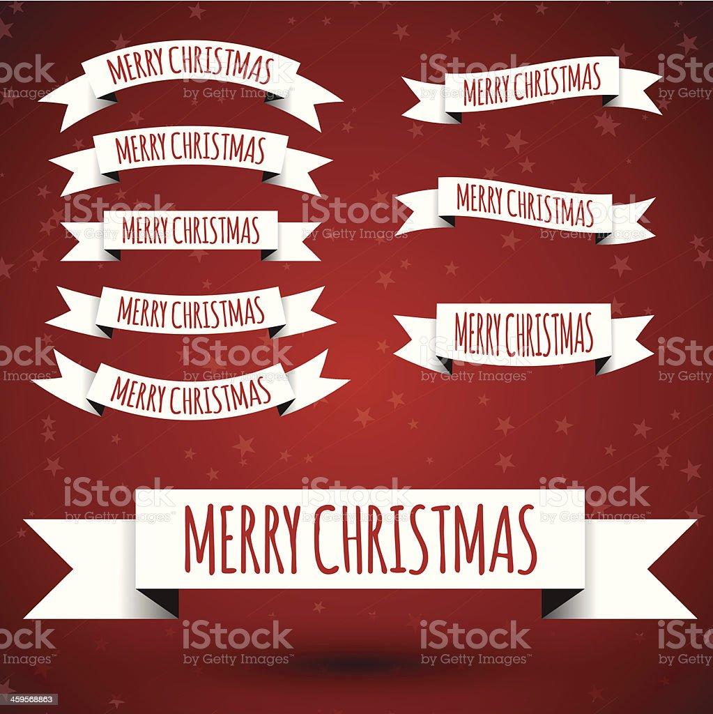 white christmas ribbons royalty-free stock vector art