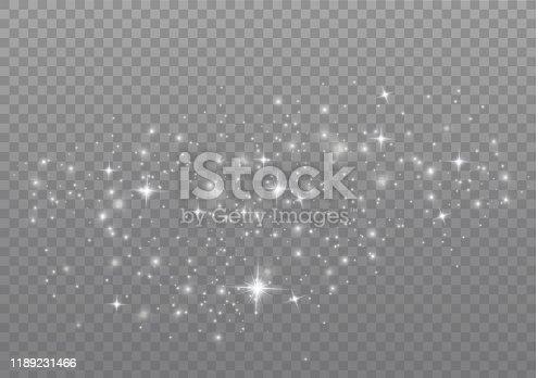 istock White christmas sparks 1189231466