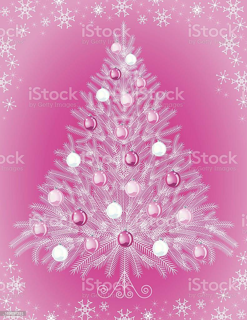 Árbol de Navidad blanco ilustración de Árbol de navidad blanco y más banco de imágenes de adorno de navidad libre de derechos
