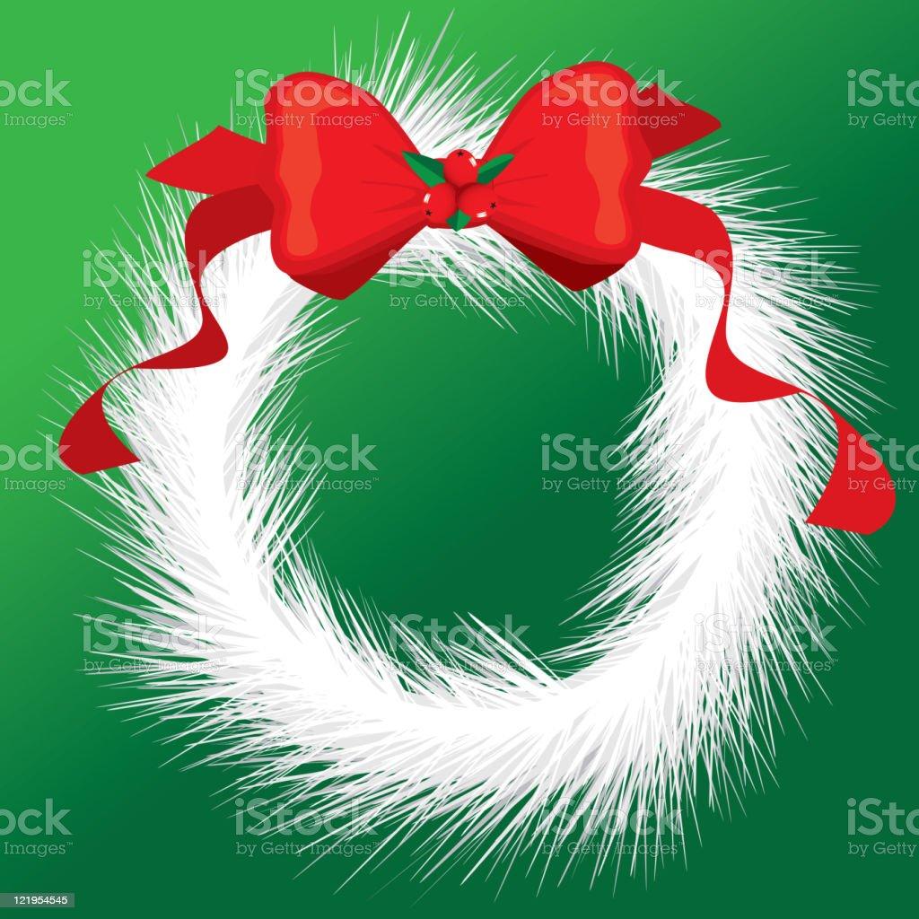 White Christmas Wreath royalty-free stock vector art