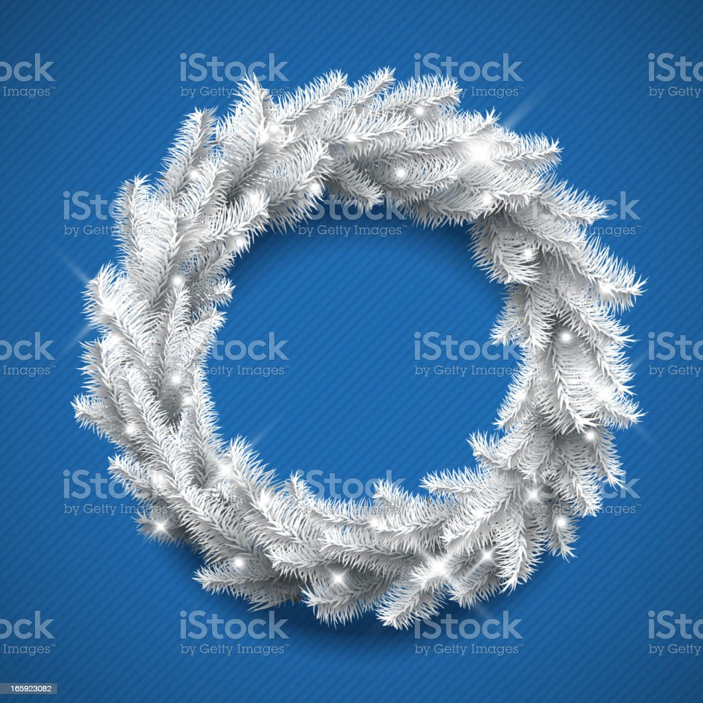 White Christmas Wreath royalty-free stock vector art