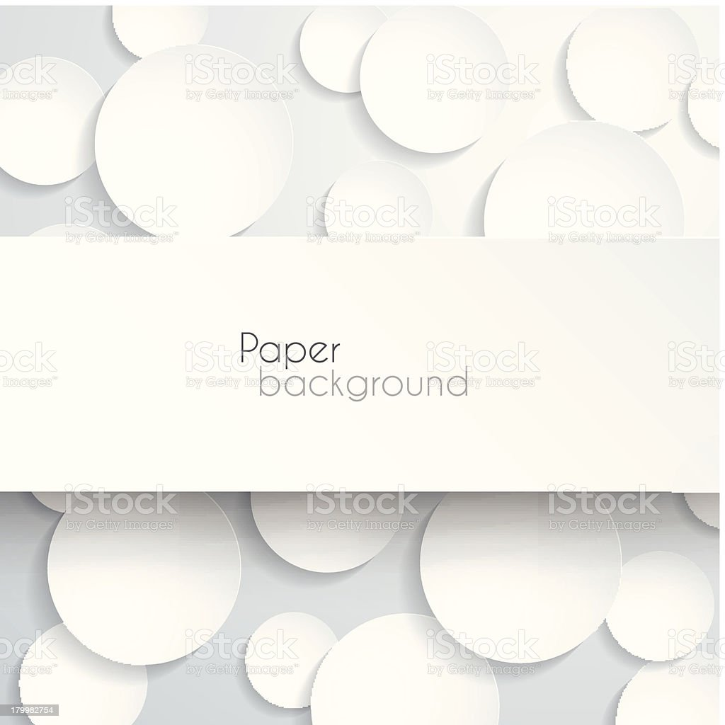White circular pieces of paper arranged in a stylish way royalty-free stock vector art