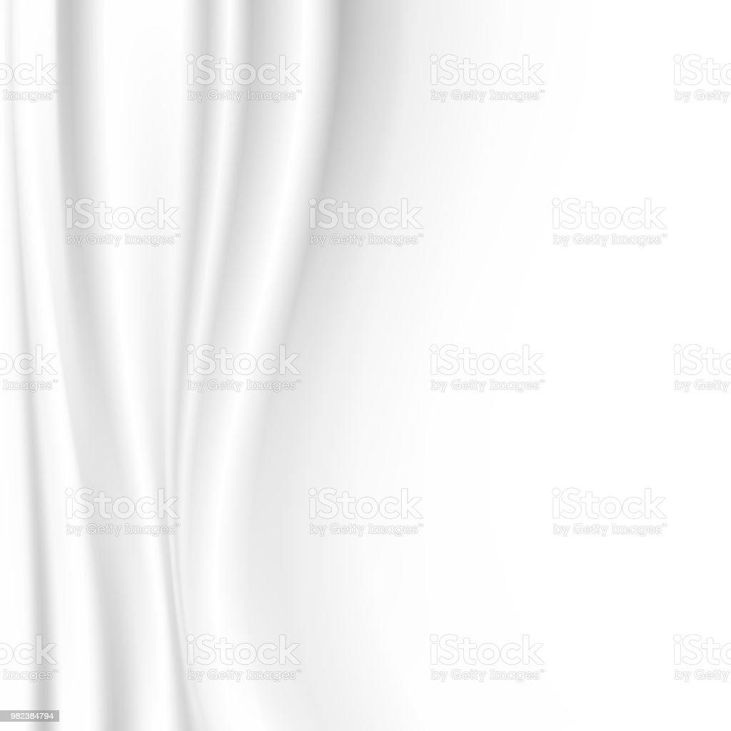 Weißes Tuch Hintergrund mit Kopie Raum-Vektor-illustration – Vektorgrafik