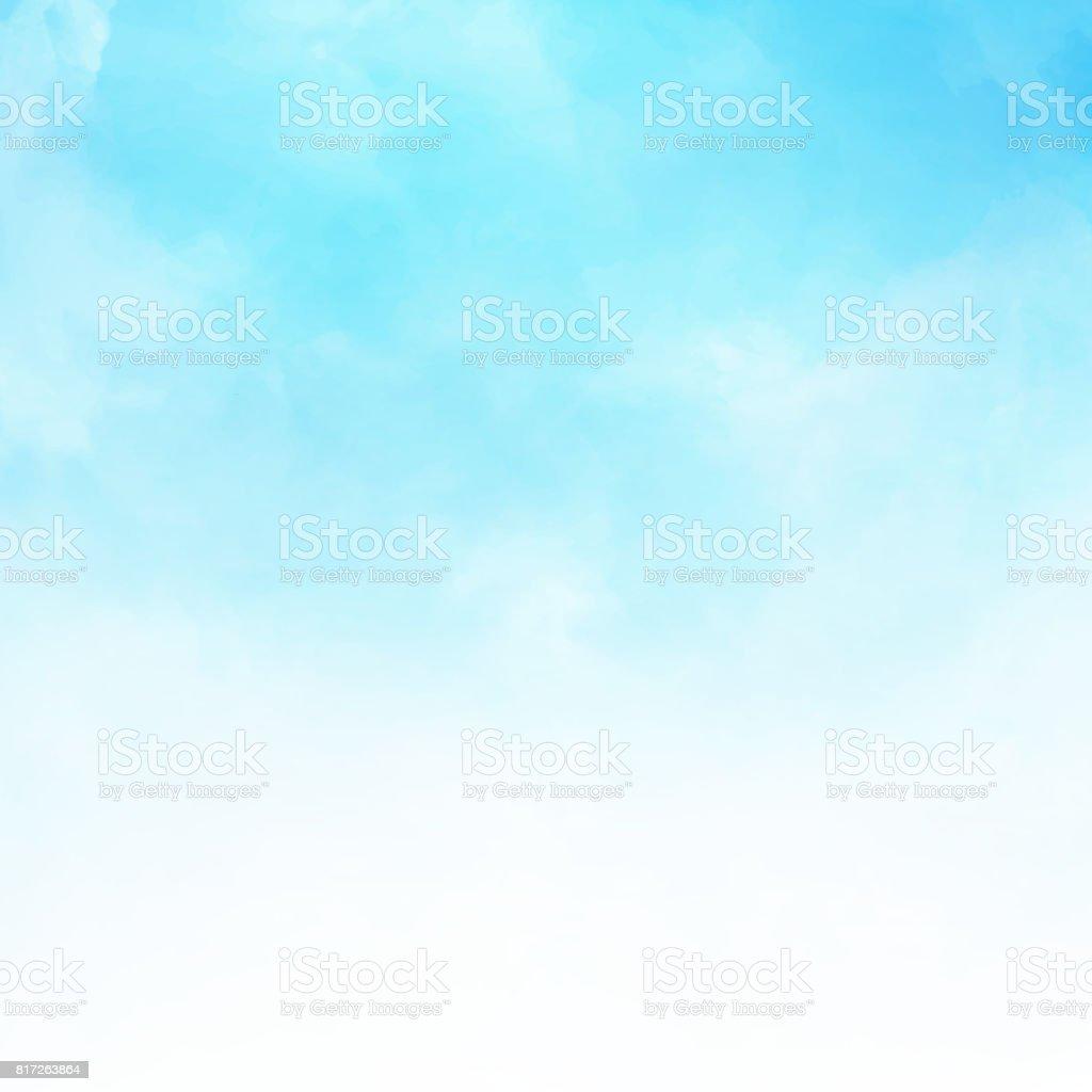 Nuvem branca detalhe em espaço da cópia do fundo de ilustração vetorial de céu azul - Vetor de Acendendo royalty-free