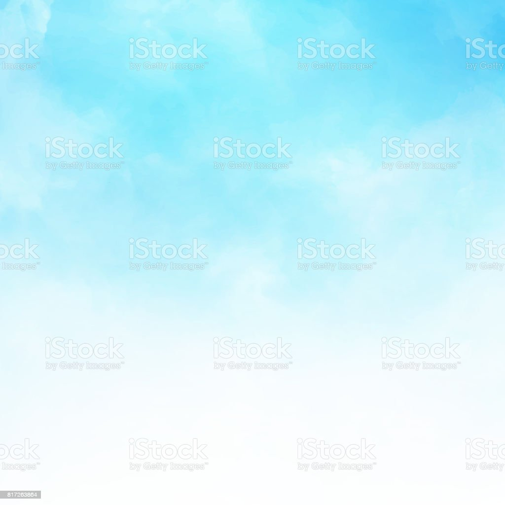 White cloud detail in blue sky vector illustration background copy space - ilustração de arte vetorial