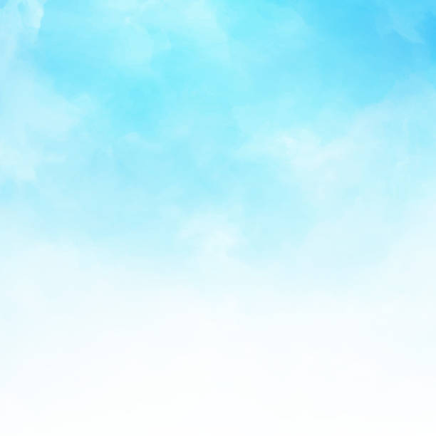 White cloud detail in blue sky vector illustration background copy space vector art illustration