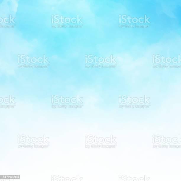 Vetores de Nuvem Branca Detalhe Em Espaço Da Cópia Do Fundo De Ilustração Vetorial De Céu Azul e mais imagens de Acendendo