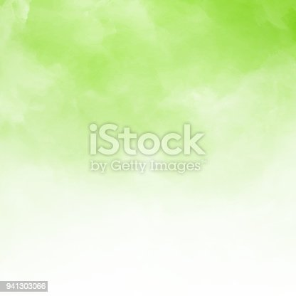 istock White cloud detail on green natral background and texture with copy space. 941303066