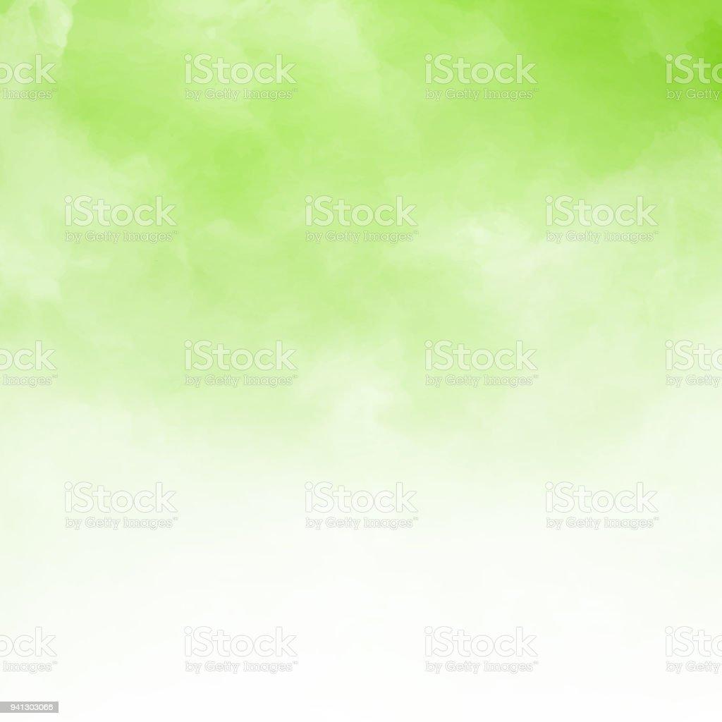 Detalhe de nuvem branca sobre fundo verde natral e textura com espaço de cópia. - ilustração de arte em vetor