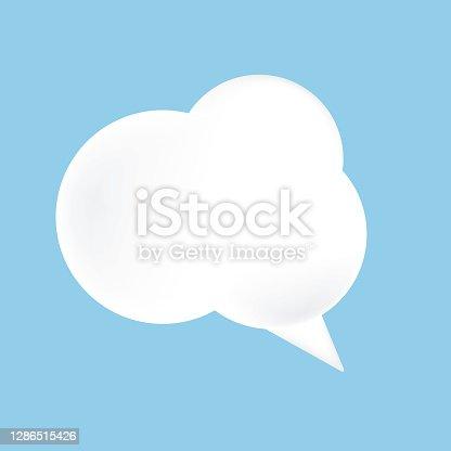 istock White Cloud Speech Bubble 1286515426