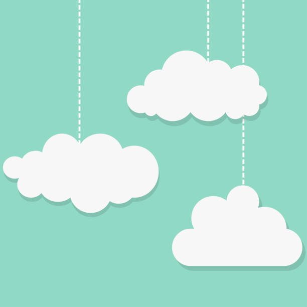 white clouds on blue background . - clouds stock illustrations