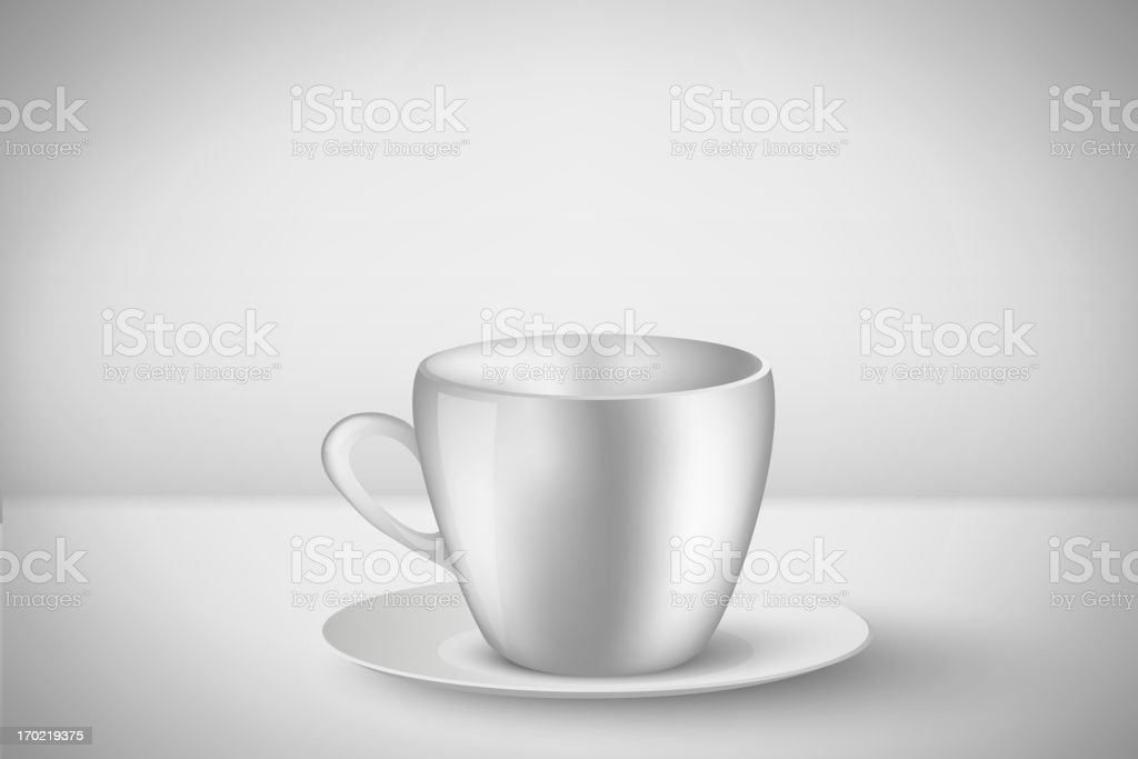 white coffee cup royalty-free stock vector art