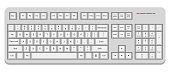 istock White computer qwerty keyboard. Vector illustration isolated on white background 1215587227